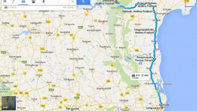 Travelling And Route Map Of Srisailam