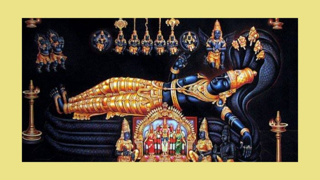 Magnificent Idol Of Lord Padmanabha swamy