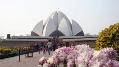visiting places around lotus temple