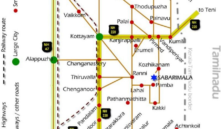 Sabarimala Route Map Travelling And Route Map Sabarimala Temple,Kerala By Bus Train and Air