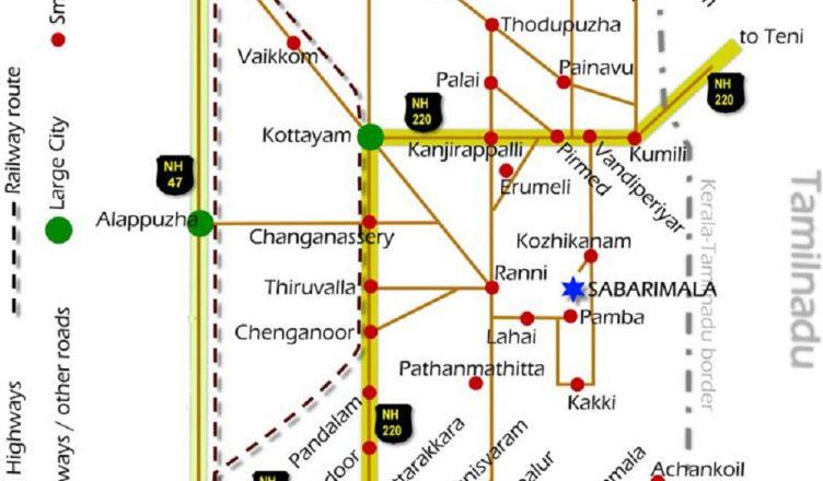hydera to sabarimala road map Travelling And Route Map Sabarimala Temple Kerala By Bus Train And Air hydera to sabarimala road map